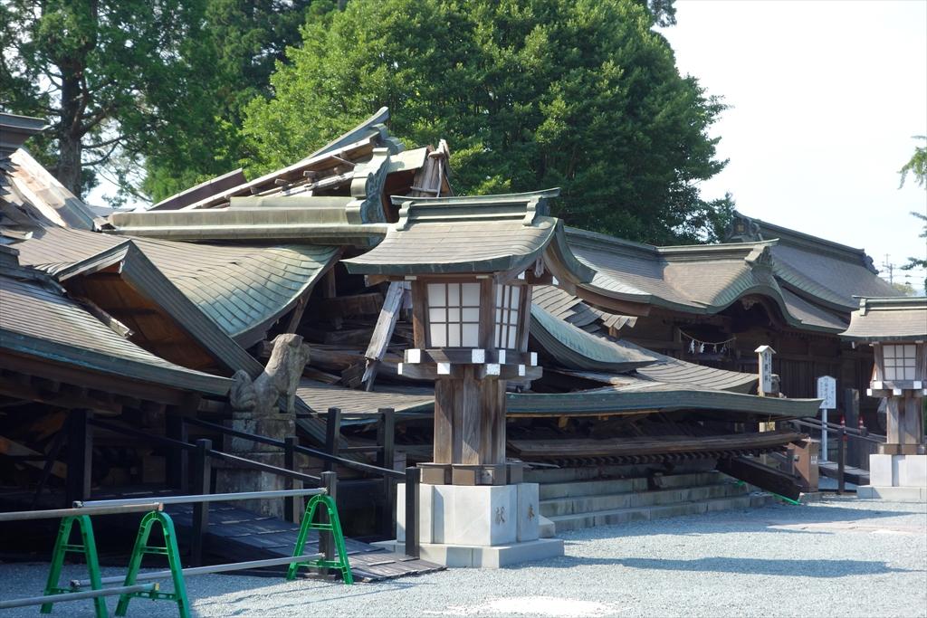熊本地震から4ヶ月 阿蘇神社の今は