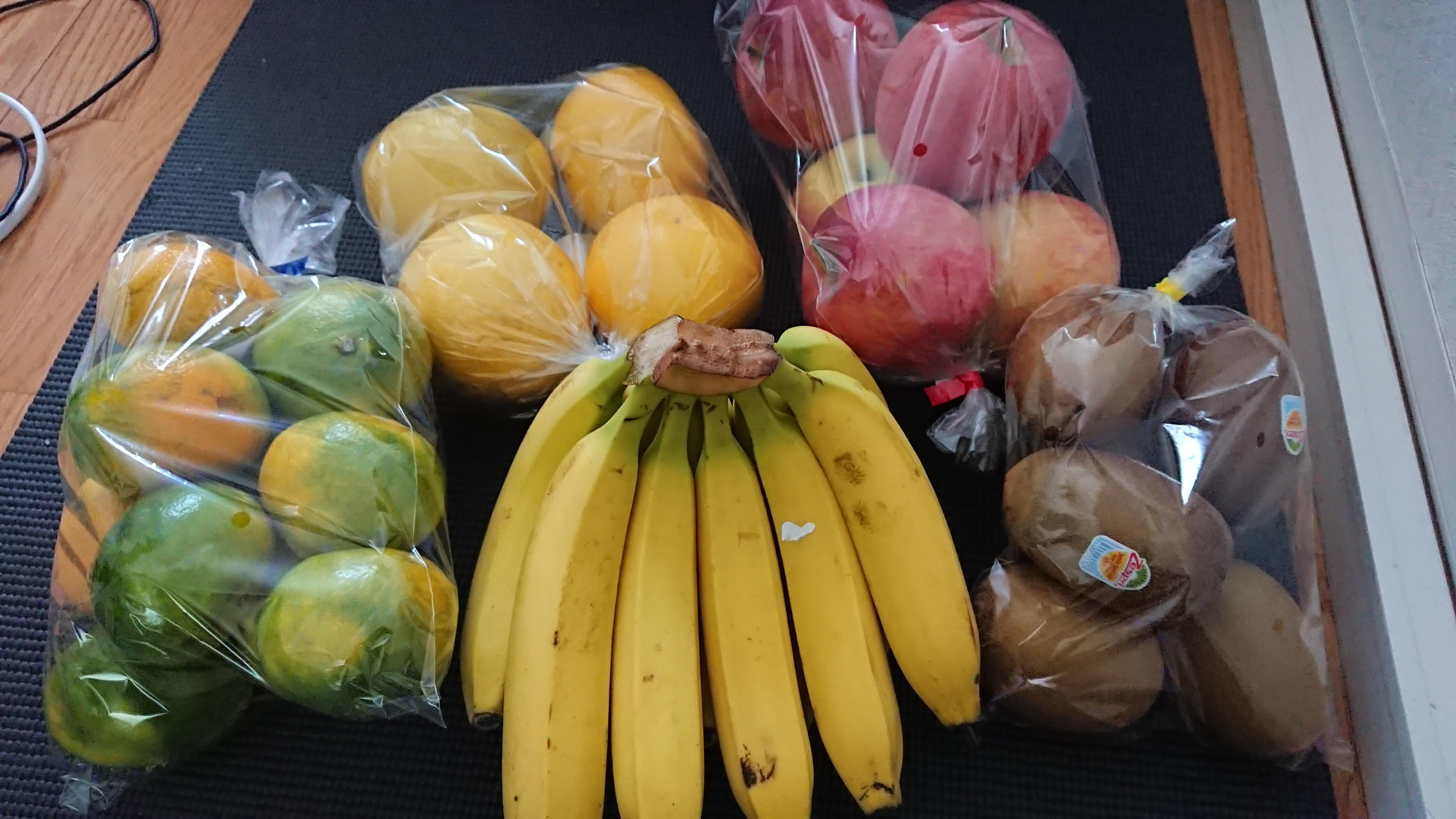 一週間フルーツだけを食べ続けるとこうなります。
